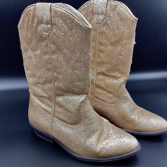 Girls Gold Glitter Boots | Poshmark